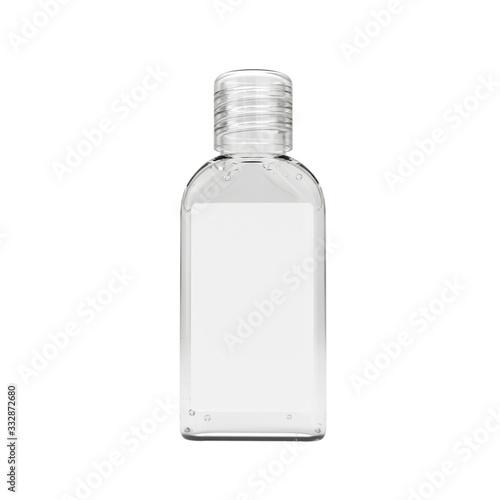 Fototapeta Realistic sanitizer gel bottle. Gel or cream bottle dispenser. Pump 60ml container template. Hand sanitizer in 60ml bottle. obraz