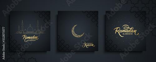 Ramadan Kareem celebrate cards set Wallpaper Mural