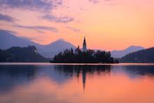 A Beautiful Colorful Sunrise A...
