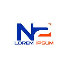 Initial Letter And Number Logo, N2, 2N, N, 2, Logo Design Vector Element