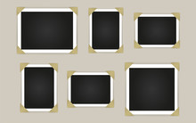 Empty Photo Frames Isolated On White Background. Vector Illustration.