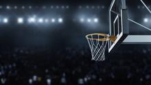 3d Render Basketball Hit The B...