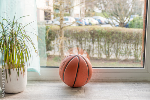 Fotografia Ballon de basket à la maison