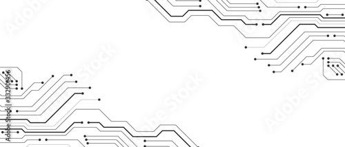 Fotografía Circuit board design background