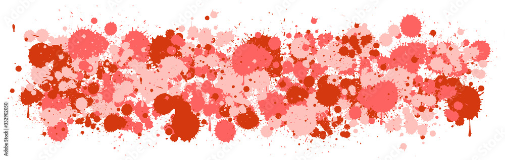 Fototapeta Background design with watercolor splash in red on white background