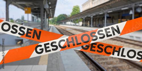 Fototapeta Bahnhof geschlossen obraz