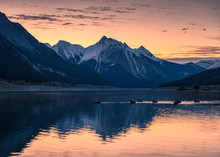 Canadian Rockies With Colorful...