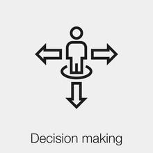 Decision Making Icon Vector. L...