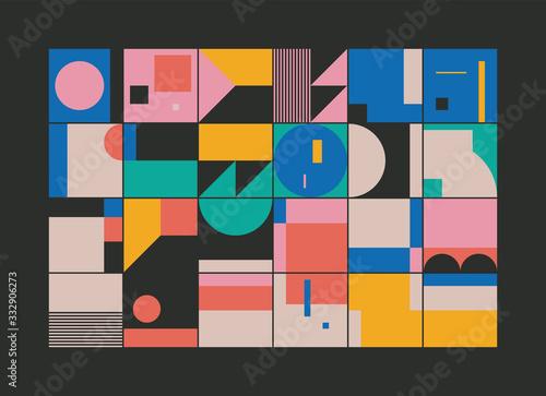 Carta da parati Bauhaus Abstract Vector Composition Design