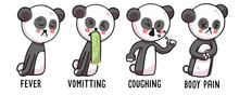 Panda Showing Coronavirus Symp...