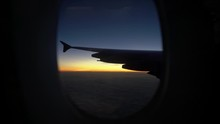 Sunset Through Plane Window