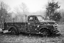 Old Truck In Snow