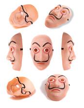 Plastic Costume Face  Mask