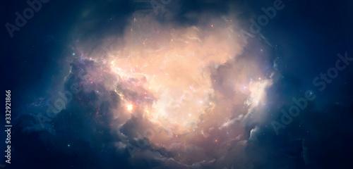 Fototapeta Nebula on a background of outer space obraz