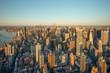New York City skyline, aerial view