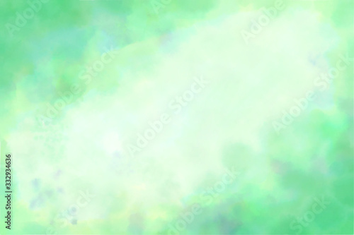 Photo 水彩 グリーン 背景 Abstract green watercolor background