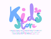 Vector Bright Sign Kids Store ...