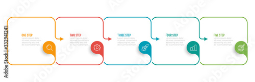 Fotografie, Obraz Timeline infographic template