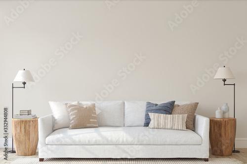Fotografering Modern living-room interior. 3d render.