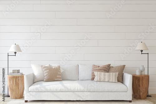 Fototapeta Modern living-room interior. 3d render. obraz