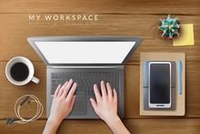 Realistic Desktop Workplace Mo...