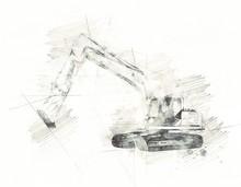 Excavator Illustration Isolate...
