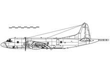 Lockheed P-3 Orion. Vector Dra...
