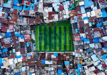Aerial View Of Football Field ...