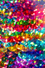 Close-up Of Multi-colored Sequins