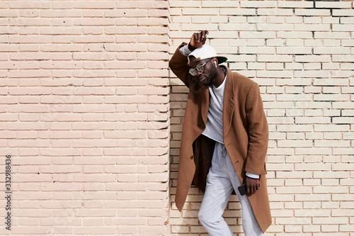 Trendy urban black afro millennial. - 332988436