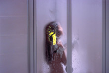 Woman In Hotel Shower