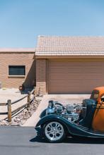 Vintage Hot Rod Car Parked In ...