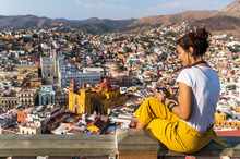Tourist Taking Photos Of Guanajuato