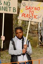 Black Female On Environmental Protest