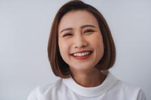 Young Asian Pretty Cheerful Bu...
