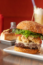 Cheeseburger With Fried Onions