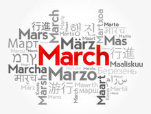 March In Different Languages O...