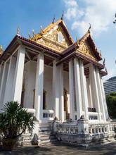 Wat Pathum Wanaram Ratchaworawihan Temple In Bangkok Thailand.
