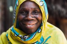 Zanzibari Old Woman Smiling An...