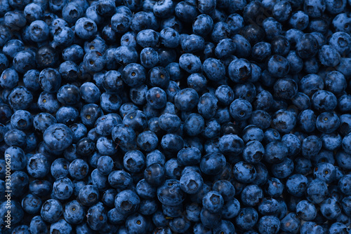 Photo Fresh blueberry background. Texture blueberry berries close up.