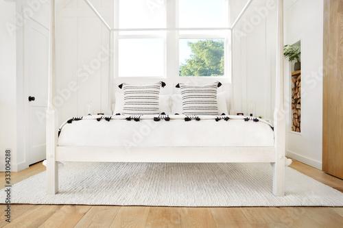 Beautifully designed modern farmhouse bedroom - 333004288
