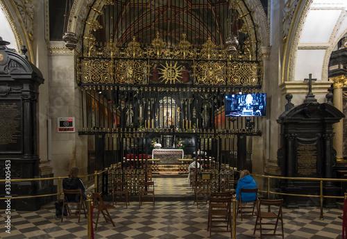 Fotografija Czestochowa, Poland, March 19, 2020: Jasna Gora Monastery: chapel and Wonderful