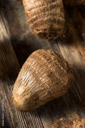 Photo Raw Organic Brown Taro Root