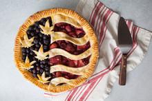 American Flag Cannabis Pie