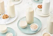 Set Of Assorted Vegan Milk In ...