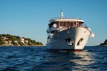 Boat Cruising In The Sea