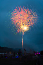 Beautiful Fireworks At The Riv...