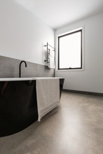 Freestanding Black Bath
