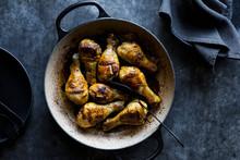 Crisp Chicken Legs With Maple Syrup Mustard Marinade