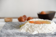 Eggs In A Flour Well For Pasta...